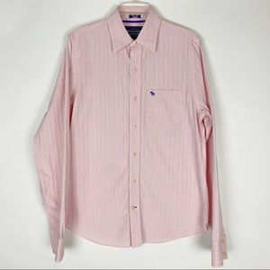ABERCROMBIE & FITCH Muscle Striped Button Up Shirt